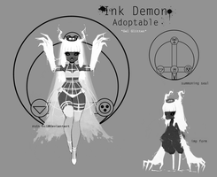 Ink Demon *gel glitter* [closed] by missusruin