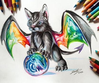 Day 4- Rainbow Kitty Dragon by Lucky978