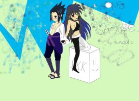 Sasuke and Kagome (ultimate crappiness) by iluvsoul12