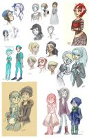 Persona Sketchdump Dec 2013 by Alias-Hugo