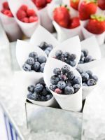 I love the idea of serving fresh fruit in a cone a by tracylopez