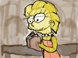 Lisa the Bookworm by Quacksquared