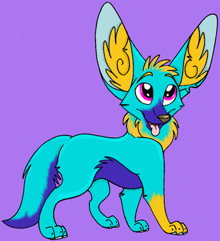 Colored line are- Fennec by Kitty-Keely