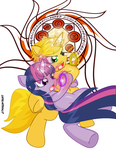 Twilight-Brass Battle Duet Platinum Crown by CapnChryssalid