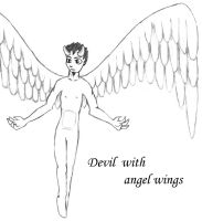 devil with angel wings by isays