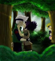 Anko and Kakashi kiss vers. 3 by DArk-Manix