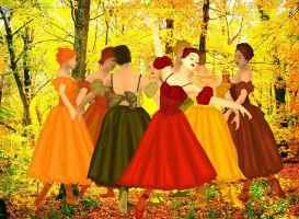 Allegory Of The Autumn Leaves by raynaliz