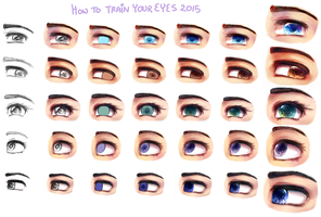 how to train your eyes 2015 by Endiria