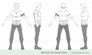 Zoro model sheet by Jeannette11