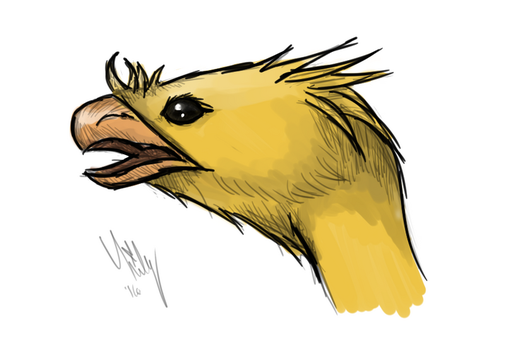 Chocobo Sketch by Lilymilou