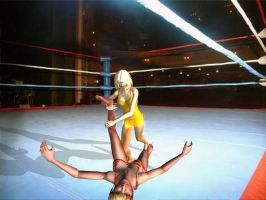 Women Wrestling 03 by andypedro