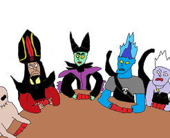 Disney Villains playing poker by Simpsonsfanatic33