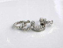 Stackable silver ear cuffs by JSjewelry
