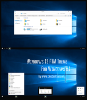 Windows10 RTM Theme For Windows 8.1 by Cleodesktop