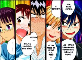 Four Girls One Boy, Nisekoi by Unrealyeto