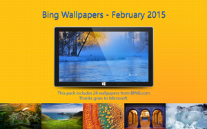 Bing Wallpapers - February 2015 by Misaki2009