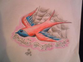 another swallow lol by sugarskull-tattoos