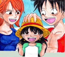 Luffy's lil Treasure by Nessie-Noodlez