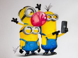 Drawing Minions by Artatyourservice
