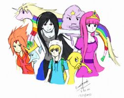 Adventure Time (Colored) by kevz10