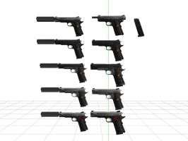 Custom M1911 Pack + DL by sky-commander