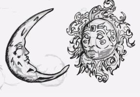 Sun and Moon by Razziebassy
