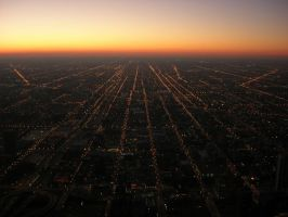 Chicago Sunset by stkbayfield