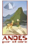 Andes travel poster by fyr3lyt3