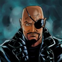 Nick Fury by SachaLefebvre