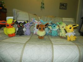 My Pokemon Plushie Collection - All eeveelutions by Megalomaniacaly