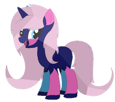 Testing a Crystal texture on a pony Oc :U by LPS100