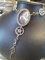 Gears in maille necklace by BacktoEarthCreations