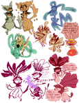 floraverse doodles by ScarfFetish