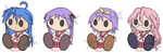 Lucky Star Plushies by x-Luna-chan-x