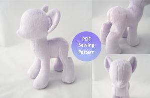 Minky Pony Plush - Pattern Available Now! by PlanetPlush