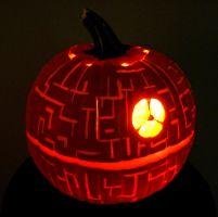 Death Star Pumpkin by Bonedaddybruce