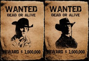 Wanted Dead or Alive by luckynumberslvn