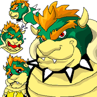 Bowser Face Study -Doodle by UnabletoWatchMits