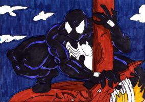 Spidey Black Suit Again by ChahlesXavier