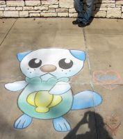 Oshawott in the Park by Kafae-Latte