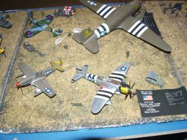 D-Day and allies airfield diorama by rihosk