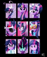 Forms of Twilight Sparkle by Ilona-the-Sinister
