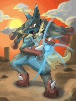 Mega Lucario by InfinitePieces