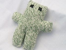 Radical Teddy Bear Green White by Cloudpow