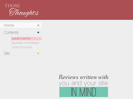 Those Thoughts Site Design v.1 by Recite