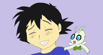 Meaningful Moment #3 - Ash and Celebi by RedwallChick1303