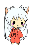 Chibi Inuyasha (Art Trade with Inuyashalover2216) by Domenica-chan999