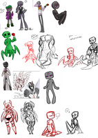 Minecraft Doodle Dump by twitchiness