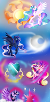 The Four Princess Of Equestria by Alicornpony1234