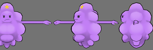 Lumpy Space Princess Model by FusionFallCreations